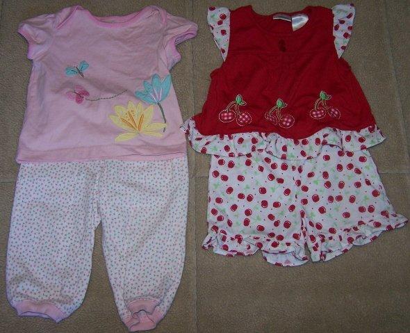 Lot/2 Outfits GYMBOREE Tiny Pond Set + GC Outfit Sz 18M