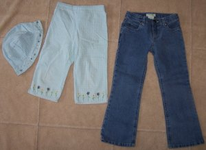 Girls GYMBOREEGingham Capris Hat + CircoJeans Lot 5