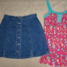 AMERICAN EAGLE Button Front Jean Skirt & Top Outfit 6