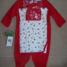 NWT HOLIDAY/FIRST CHRISTMAS BabyWorks 3PC OUTFIT 0/3M