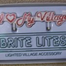 "DEPT 56"" I ♥ My Village"" Brite Lites Yard Sign Accessory"