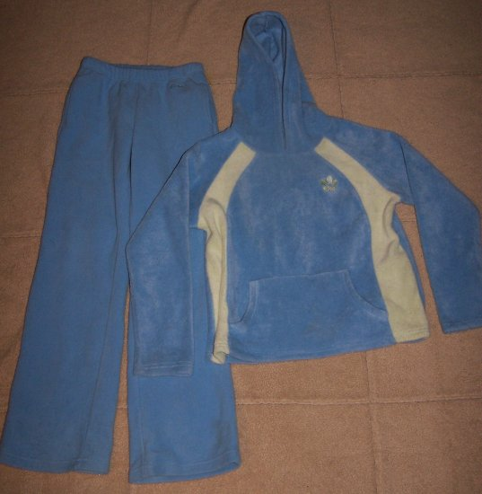 Girls 2PC OLD NAVY Fleece Outfit Pants Hoodie 10/12
