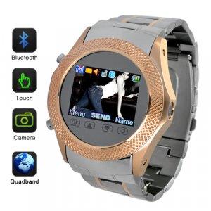 SB01 Fashion Design Quad Band Touchscreen Cellphone Watch