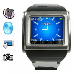 SB03 Fashion Design Quad Band Watch phone in Stainless Steel