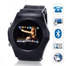 SB07 Quad Band Touchscreen CellPhone Watch (Black)