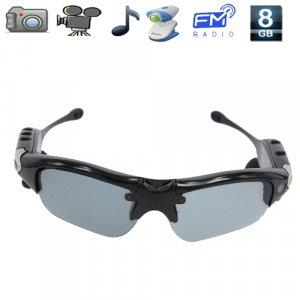 5 in 1 Sunglasses Mini Spy Camera DVR with Video,Photos, MP3, FM Radio, PC Camera