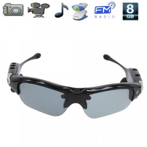 5 in 1 Sunglasses Mini Spy Camera DVR with Video,Photos, MP3, FM Radio, PC Camera
