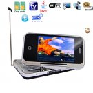 QuadBand TV/WIFI/JAVA  with QWERT Keyboard and Swivel Touch Screen Cell Phone