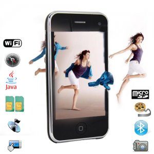 Quad Band 3.5 Inch Large Touch Screen Cell Phone with JAVA/WIFI and Compass