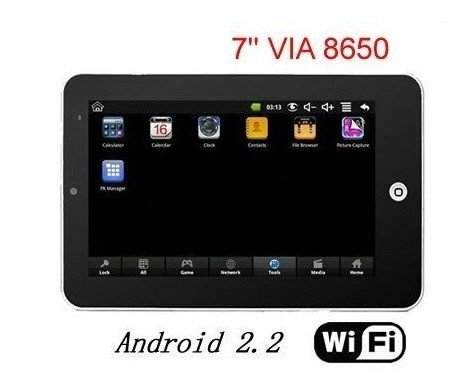 Wholesale 7inch Android 2.2 Tablet PC New VM8650 800 MHZ Flash Player 2PCS