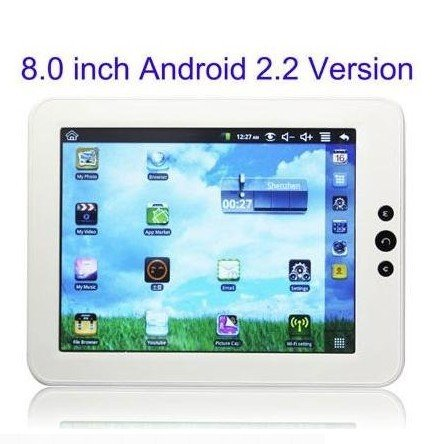 VR0008 8 inch Android 2.2 multi touch screen Tablet PC with WIFI