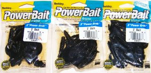"Berkley powerbait 3"" black cruly tail"