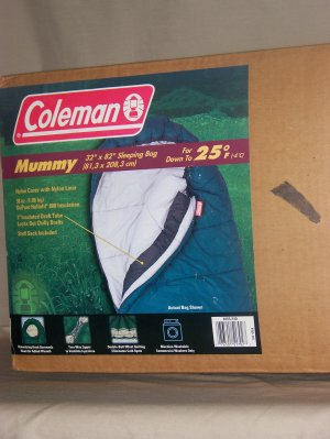 Colman Mummy sleeping bag  good down to 25 degree