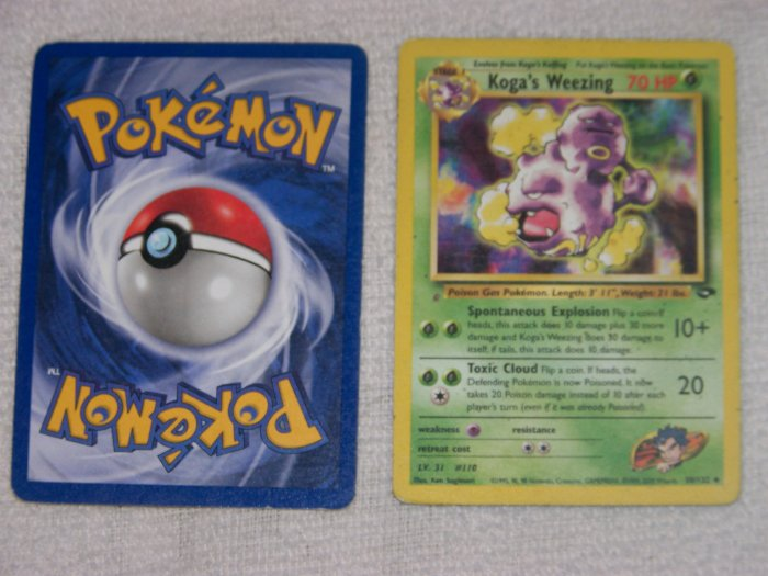 Looking for a good collectable pokemon trading card koga's weezing