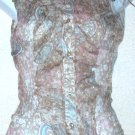 KENZIE  Womens silk sheer sleeveless blouse  Size 6