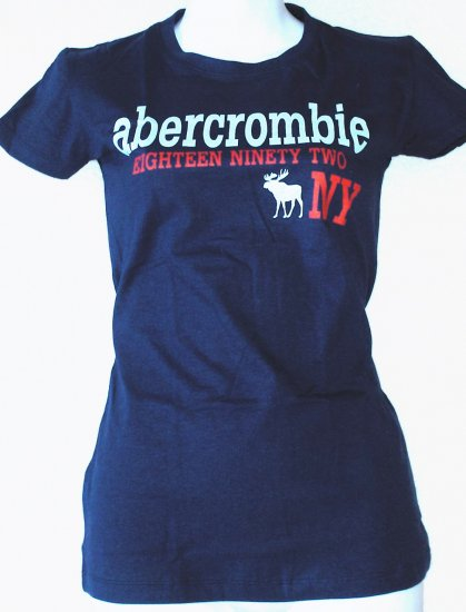 ABERCROMBIE & FITCH  Womens/Juniors logo T-shirt  Size M
