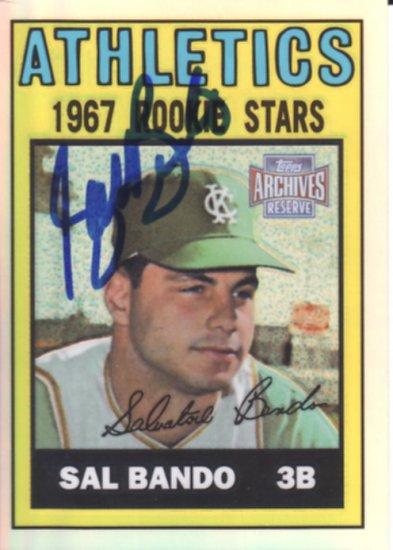 Sal Bando Autographed Signed Card! Oakland A's