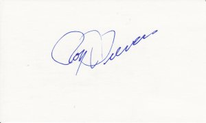 Roy Sievers Autograph Signed Index card! Cleveland ROY