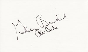 Glen Beckert Autograph Signed Index card! Chicago Cubs