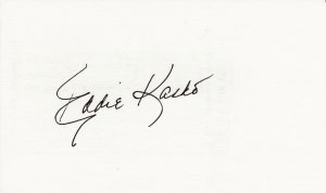 Eddie Kasko Autograph Signed index card! Boston Red Sox