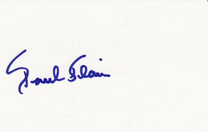 Paul Blair Autograph Signed index card! Orioles Yankees