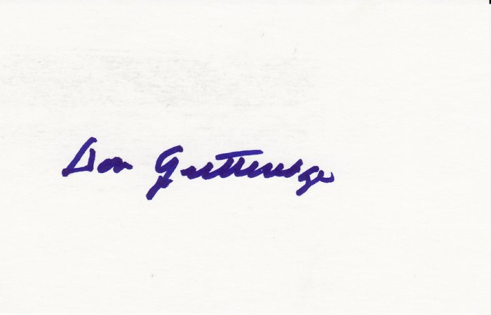 Don Gutteridge Autograph Signed Index Card! Red Sox White Sox