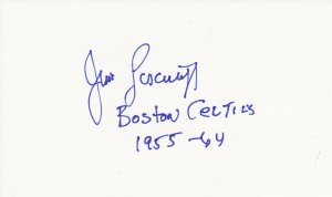 Jim Loscutoff Autograph Signed Index Card! Boston Celtics