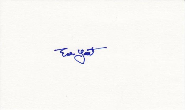 Ed Yost Autograph Signed Index Card! Washington Senators