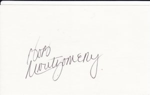 Bob Montgomery Autograph! Boston Red Sox Signed