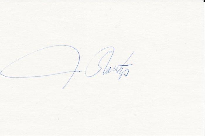 Jim Northrup Autograph Signed Index Card! Detroit Tigers