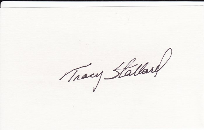 Tracy Stallard Autograph Signed Index Card! Boston Red Sox
