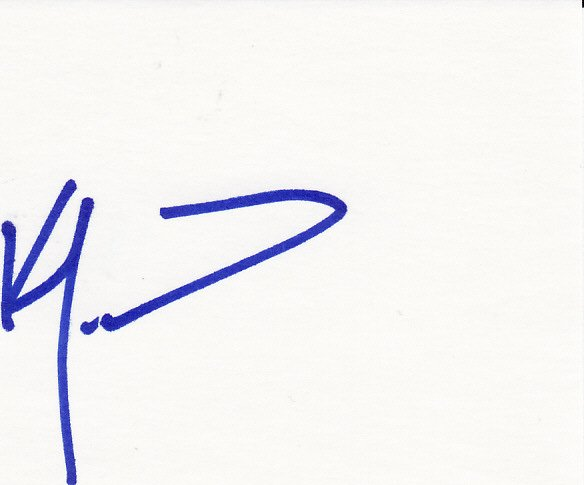 Ken Morrow Autograph Signed Index Card! USA Hockey Gold