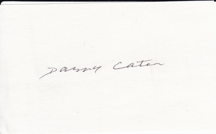 Danny Cater Autograph Signed index card! New York Yankees Boston Red Sox