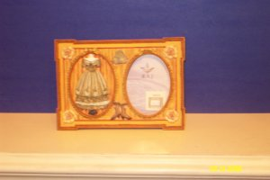 Victorian Dress Resin Picture Frame