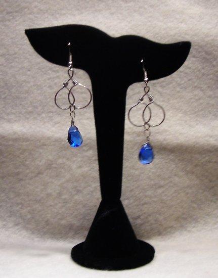 LC984E - Capri Blue Swaroski Earrings