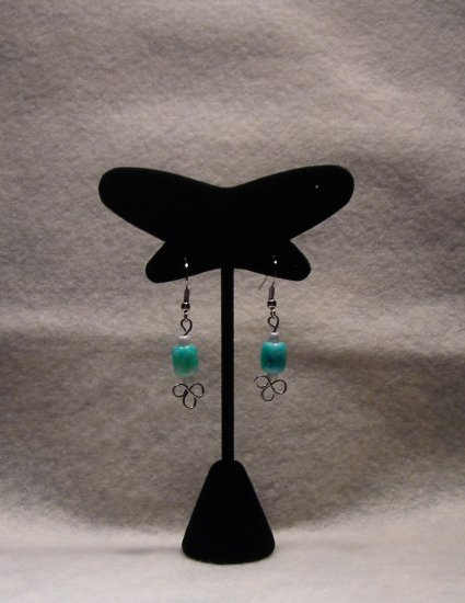 LC991E - Sea Green Beaded Earrings
