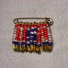 LC804F - Large Patriotic Friendship Pins (clear style)