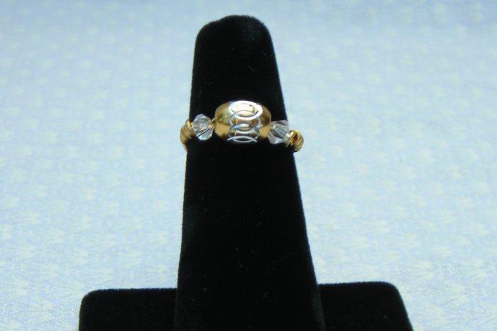LC994R - Gold Diamond Cut Ring