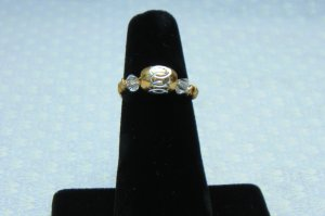 LC994R - Gold Diamond Cut Ring