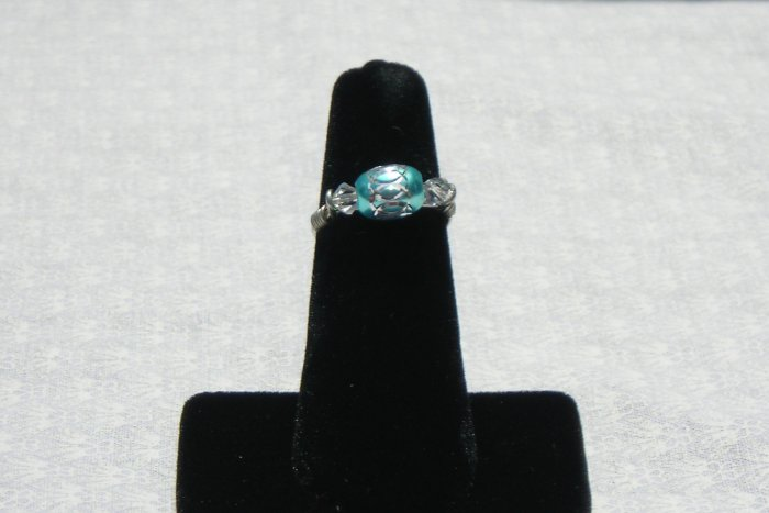 LC993R - Aqua Diamond Cut Ring