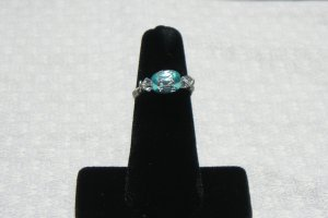 LC993R - Aqua Diamond Cut Ring