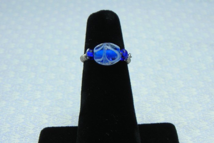 LC995R - Blue Feather Ring