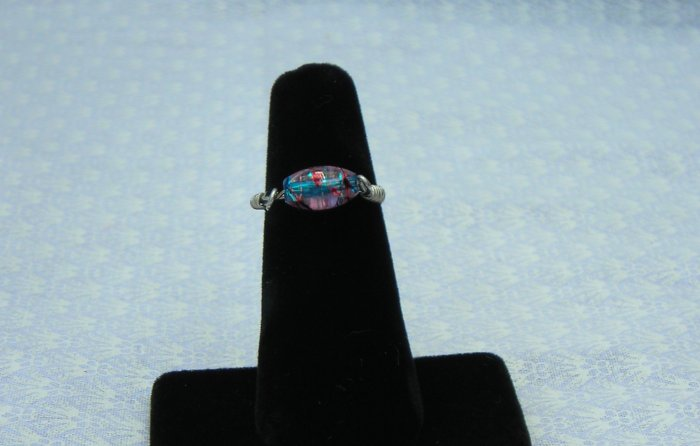 LC996R - Blue swirl Ring