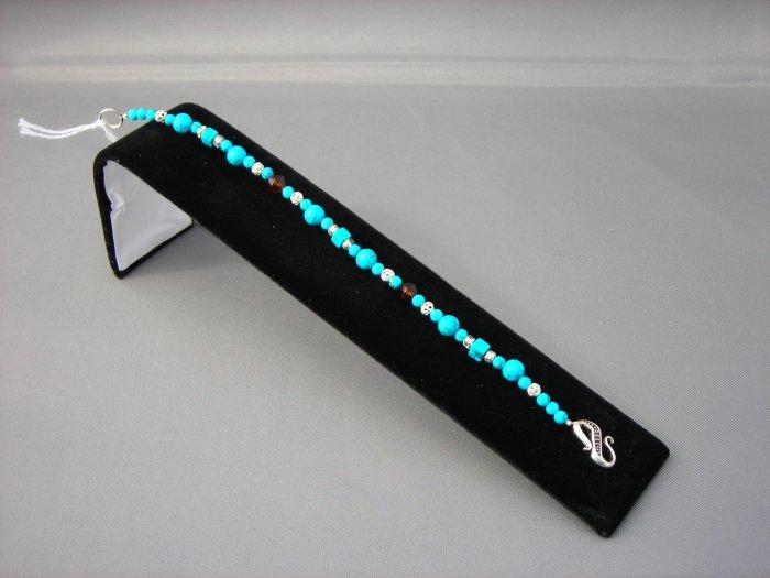 LC944B - Turquoise Beaded Bracelet