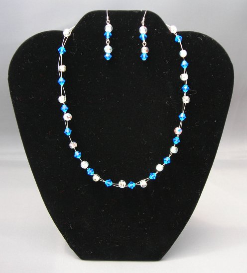 LC976S - Capri Swarovski Necklace and Earring Set