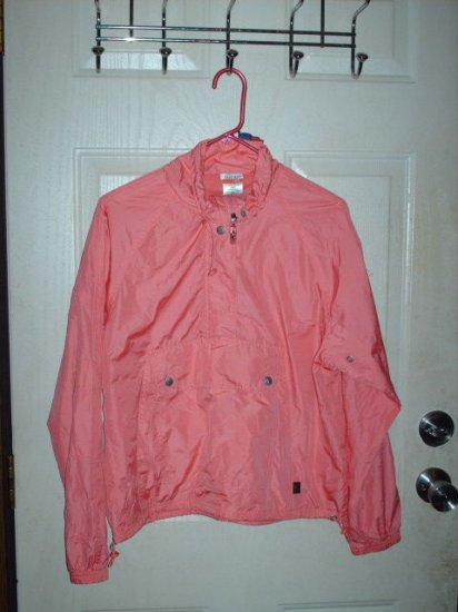 Used Danskin Now Ladies 8/10 Melon Colored Windbreaker Pullover