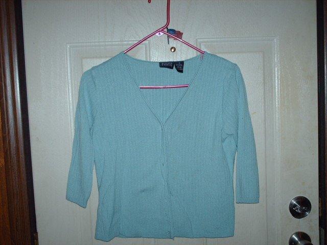 Gently Used Hillard & Hanson Light Blue Cardigan Size Medium