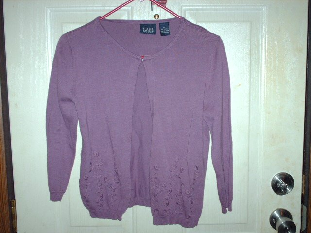 Gently Worn Hillard & Hanson Woman's Purple Cardigan Size XS