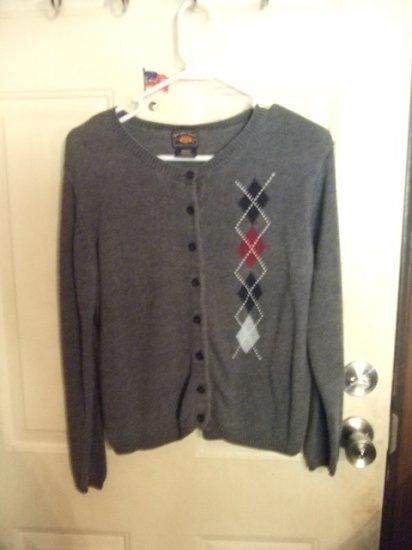 Gently Worn Route 66 Gray Cardigan Sweater Girl's Size Medium