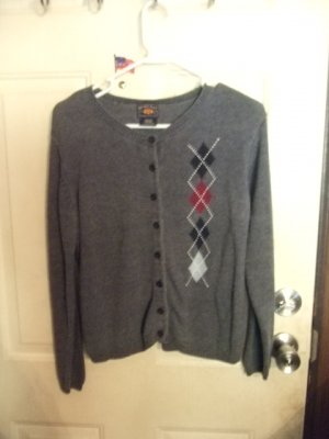Gently Worn Route 66 Gray Cardigan Sweater Girl's Size Medium